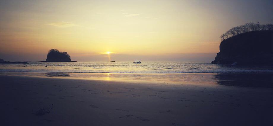 pirate bay beach sunset