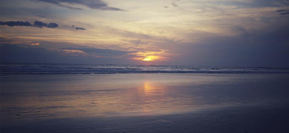 palm beach costa rica sunset